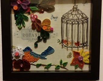 Handmade quilted picture frame design