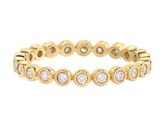 Diamond eternity bezel ring