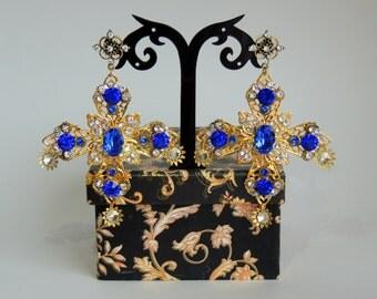 Ear-crosses Dolce Gabbana Sapphire