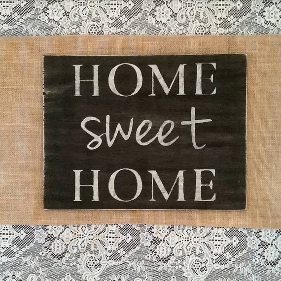 home sweet home sign home sweet home wall decor housewarming. Black Bedroom Furniture Sets. Home Design Ideas