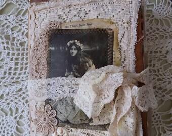 Handmade journal, Edwardian actresses, theatre.
