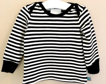 NEW! Striped baby top, toddler top, baby clothes, baby gift, toddlers clothes, baby shirt, baby t shirt, baby gift, pirates, black and white