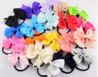 Lovely Fashion Ribbon Hair Tie , Elastic Hair Tie , Bow Hair Ring -- YTC09
