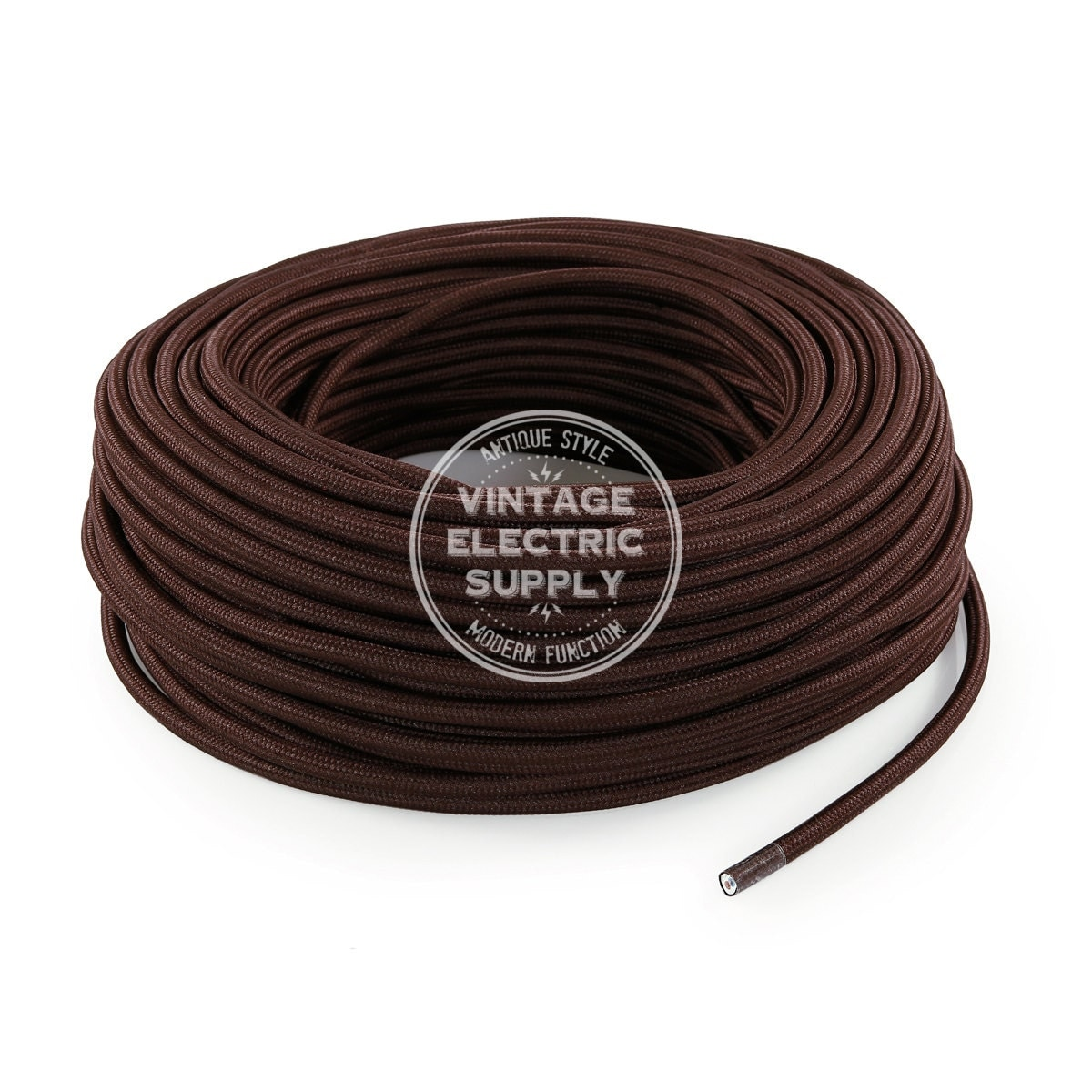 Stupendous Brown Cloth Covered Wire Vintage Lamp Cord Antique Fan Cord Wiring Digital Resources Remcakbiperorg