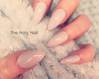 FALSE NAILS - Stone Grey - Stick On - The Holy Nail