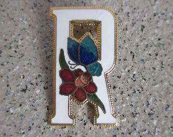 Letter R Brooch Pin
