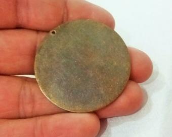 5 Pcs Antique Bronze 40 mm Stamping Disc 1 Hole - 25 Gauge Stamping Disc