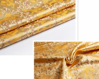 Dragon Fabric. Champagne Brocade