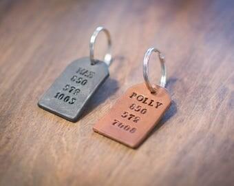 Custom Dog Tag, Pet ID Tag, Pet Collar Tag, Custom Cat Tag, Leather tag, Animal collar tag