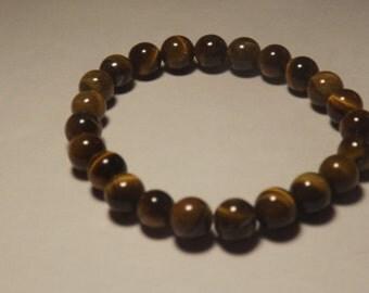8mm Red Tigerseye Bead Stretch Bracelet