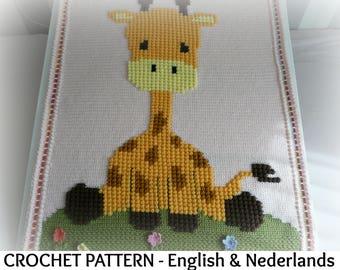 "English + Dutch Crochet Pattern Baby Blanket ""April's Baby"""