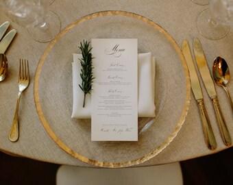 Custom Printed Wedding Menus: Elegant / Formal / Script