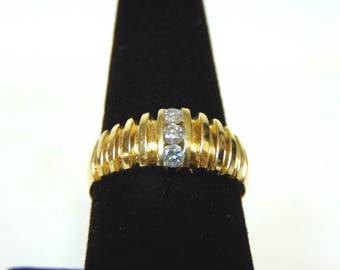 Vintage Estate 14K Yellow Gold & Diamond Ring 6.3g E2965