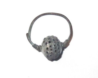 Roman Byzantine Earring Silver Plate from Bulgaria c.800 AD - Wonderful Unrestored Condition!