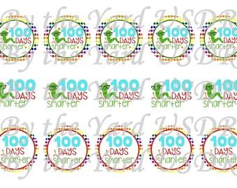 1 inch 100 days Bottlecap Image
