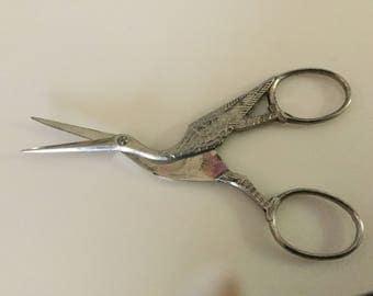 Saxonia Cuttlery Germany  stork scissors