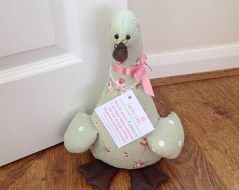 Rebecca! Duck Doorstop, Fabric Doorstop, Novelty Doorstop, Novelty Gift, Personalised Gift