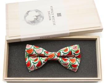 Watermelon Bowtie - Modern Boys Bowtie, Toddler Bowtie Toddler Bow tie, Groomsmen bow tie, Pre Tied and Adjustable Novioshk, H0302