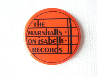 Vintage 80s The Marshalls on Isabelle Records - Boston Power Pop Band - Promotional Pin / Button / Badge