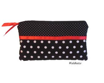 "Make-up bag, make-up bag, ""Rockabilly"" Satin"