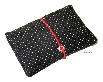 Tobacco bag / pouch / Leno bag * Minidots black *.