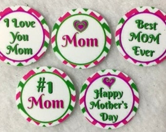 Set of 50/100/150/200 Personalized Mother's Day 1 Inch Circle Confetti