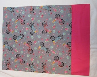 """Spring time pillow case, bicycle pillow case, standard size, 20"""" x 27"""", created in Duluth, Minnesota"""