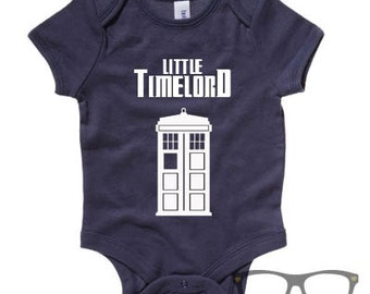 Little timelord, baby bodysuit, vest, dr who, babygrow, gift for baby, geek baby, gift for new parents, whovians, time lord, doctor