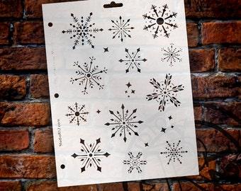 "Snowflake Flurry Medium- 8 1/2"" x 11""-SKU:STCL111"
