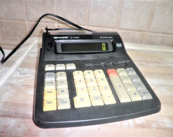 Vintage Sharp EL-1192BL 12 digit calculator