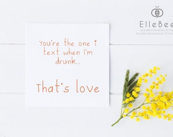 Valentines Card // Birthday Card // Anniversary Card // Funny Valentines Card // Funny Birthday Card // Valentines Day Card // Elle Bee
