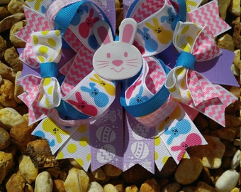 Easter Hairbow, hairbows, over the top hairbow, little girl headbows, headbows