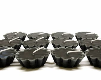 12 Pack of Scented Floating Black Candles You Pick The Fragrance