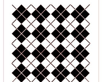 Argyle Plaid Background Stencil