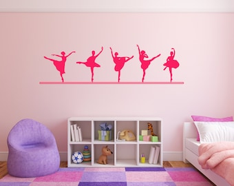Ballet Dancer Positions, Ballet Line, Decal Sign Sticker for Windows, Walls and more. Custom Sizes available (#152)