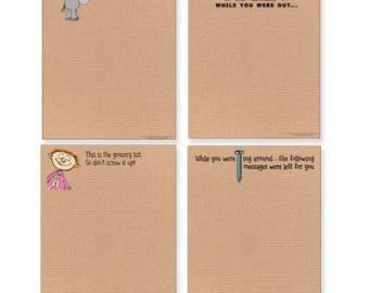 Funny Adult Note Pad Assorted Pack - 4 Pads - Great Gift Idea - 604