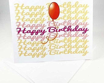 18 Happy Birthday Cards - Blank Gift Birthday Cards - Boxed Set - 14302