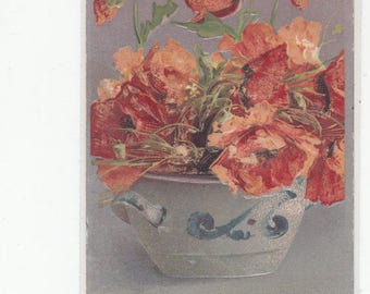 Embossed Bowl Of Poppies By C. Klein