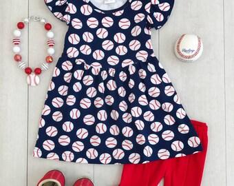 Sister Baseball Outfit, Ruffle Capri Baseball Set, Baseball Outfit