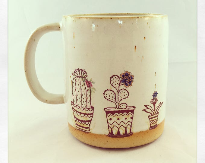 Featured listing image: Succulents on the Window- Limited Edition Color Cactus Mug