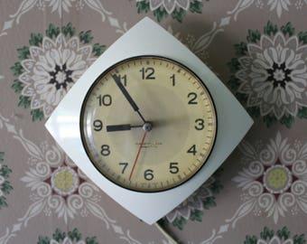 retro wall clock westclox electric wall clock working clock white wall clock
