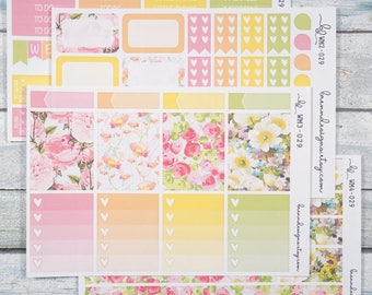 Floral Lemonade Vertical Weekly Mini Kit, Planner Stickers for use with ERIN CONDREN LIFEPLANNER™