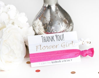 Flower Girl Thank you - Thank you for being my Bridesmaid - Hair Ties - Flower Girl Gift - Thank You Gift