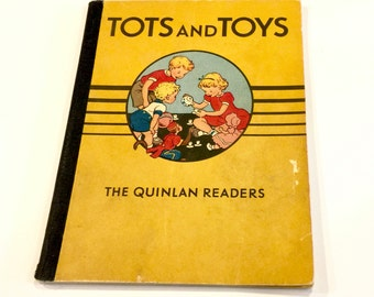 Quinlan PRE-PRIMER Basic Reader, Tots & Toys, Jane David Billy, Winky the Monkey, by Myrtle Banks Quinlan,  Pictures Kay Draper, Circa 1940s