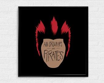 All Grown Ups - Rufio inspired art print