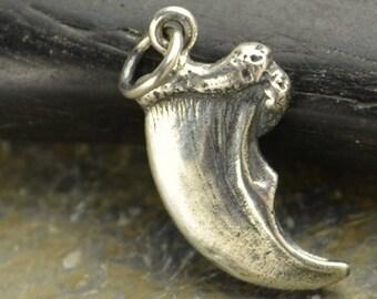 Sterling Silver Bear Claw Charm.