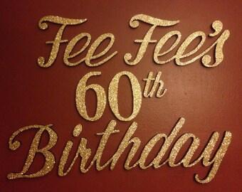 Foam Letters Birthday Decor