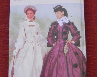 Victorian Dress Top Skirt Pattern Size 18 20 22 Butterick 6694 UNCUT Costume