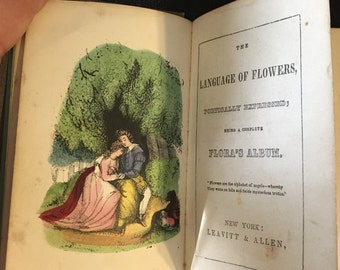 The Language of Flowers - 1847 First Edition Rare Poetry