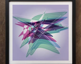 Abstract Colourful shapes Framed Art Print Geo-ART100